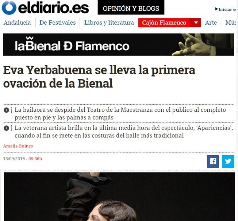 Eva Yerbabuena en Bienal 2016