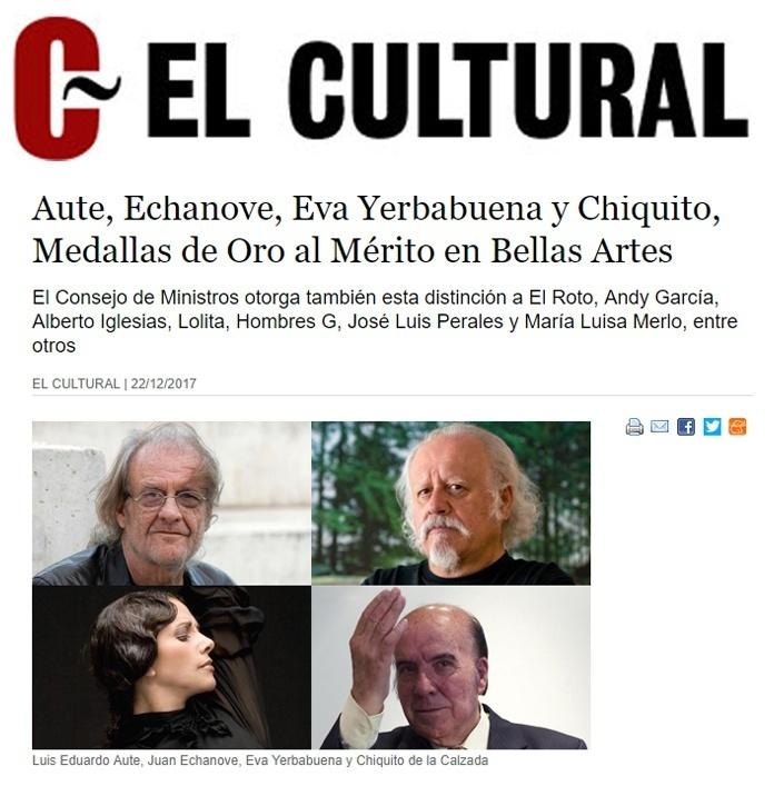 EL CULTURAL - Medalla Bellas ARtes. 22 de Diciembre.