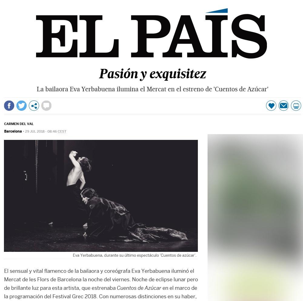 La bailaora Eva Yerbabuena ilumina el Mercat en el estreno de 'Cuentos de Azúcar'